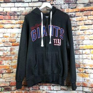 NFL New York Giants Gray Zip Up Hoodie